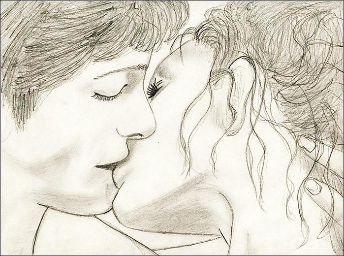 Картинки про любовь карандашом несложные