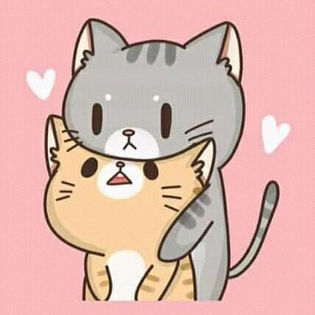 Няшные картинки для срисовки котики аниме