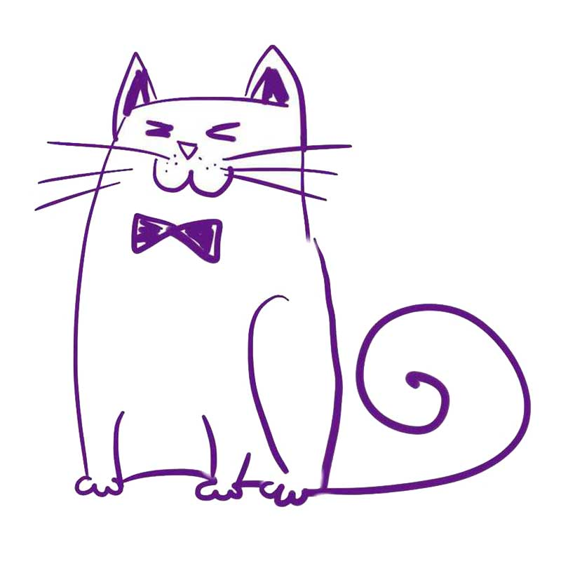 Как нарисовать котика на открытке