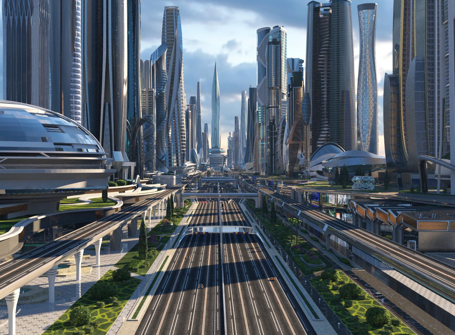 смотреть картинки города в будущем сделал